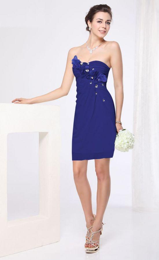 78890de1656f sexy krátké společenské šaty modré koktejlky - plesové šaty ...